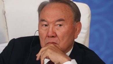 Photo of Kazakh leader resigns after three decades