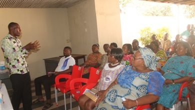 Photo of NTC staff educated on benefit of alkaline water
