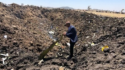 Photo of 'No survivors' in Ethiopia plane crash
