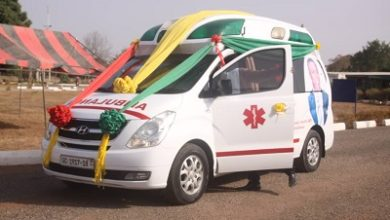 Photo of MP donates ambulance to Sene West District Hospital