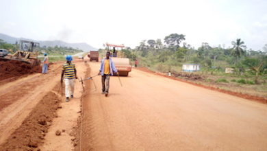 Photo of Minister inspects road project in Kwahu West Municipality