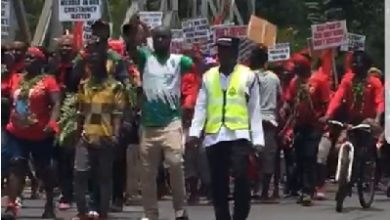 Photo of Ada-Foh youth demo against installation of chief