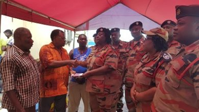Photo of GNFS supports family of girls killed in fire outbreak