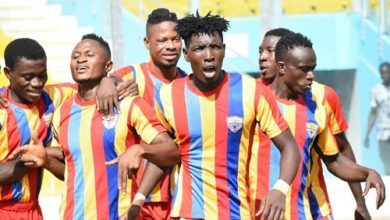 Photo of Hearts labour to beat Dwarfs in Accra