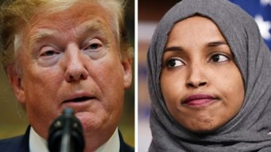 Photo of Ilhan Omar: Trump tweet sparks more death threats