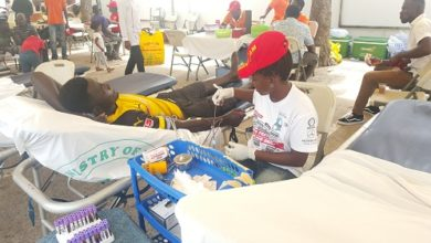 Photo of 3 organisations donate blood to National Blood Bank