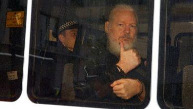 Photo of Wikileaks co-founder Julian Assange arrested