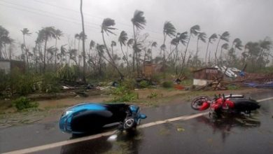 Photo of Indians shelter from cyclone's onslaught
