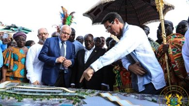 Photo of President, Asantehene cut sod for construction of 248 euros 2nd phase K'si Central Market