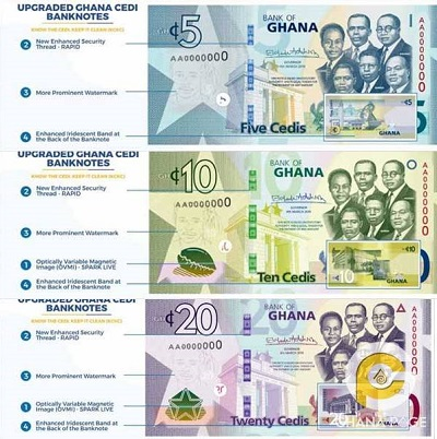 Upgraded Ghana Cedi notes out today - Ghanaian Times