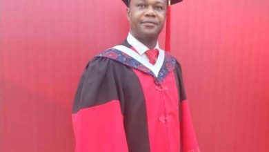 Photo of Ghanaian tourism officer graduates with Ph.D at Huazhong Univ of Science and Tech