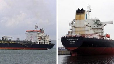 Photo of Crews rescued after Gulf tanker explosions