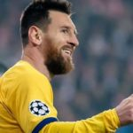 Messi makes history in Barca win at Prague