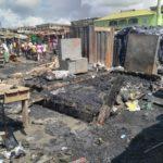 Fire razes down 70 shops in Kumasi