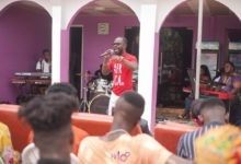 "Photo of Okyeame Kwame shows ""Class"" at the Kri8 Music Seminar"