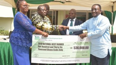 Photo of adb presents GH¢536,000 cheque prize to 2019 National Best Farmer