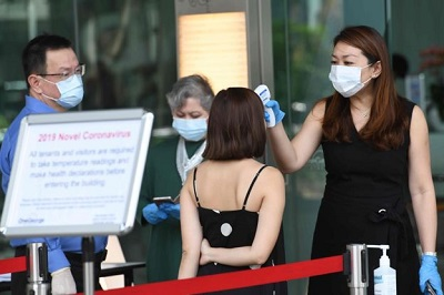 Photo of Singapore bank evacuated over coronavirus case