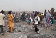 Photo of Fire burns down dozens of structures at Aboabo Dagomba Line in Kumasi