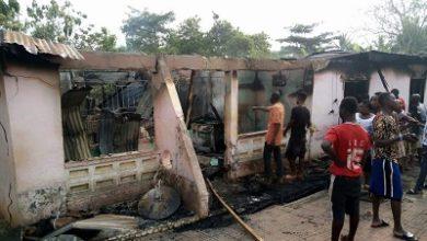 Photo of Man, grandson die in fire outbreak at Nkawkaw