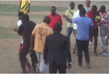 Photo of Refs brutalised in FA Cup game in Kintampo