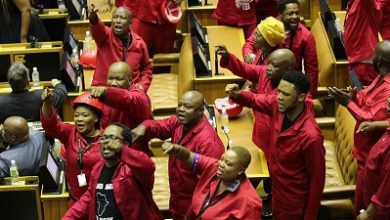 Photo of South Africa's EFF disrupts president's address