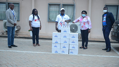 Photo of TMG donates 200 pieces of hand sanitisers to NTC