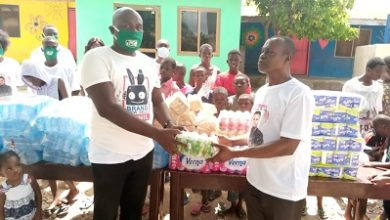 Photo of Ernest Opoku Jnr. and his Spiritman Band support All Nation Charity Home