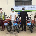 Samsung mHealth supports Adaklu District Health Directorate with 6 motorbikes