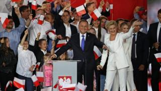 Photo of Poland's conservative President Duda re-elected