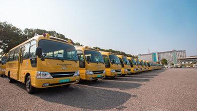 Photo of Veep presents 100 buses to Senior High Schools in 9 regions