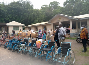 Photo of Nkwanta South Assembly supports PWDs with 10 wheelchairs, 10 tricycles