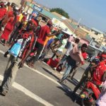 Residents demo against malfunctioning Awoshie highway traffic lights