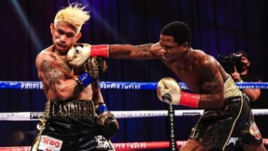 Photo of Micah stopped in 3rd round of WBO title fight