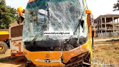 Photo of Pastor, 2 others hospitalised after car crash at Odumase