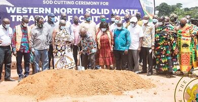 Photo of President cuts sod for construction of recycling plant in Aboanidua