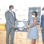 Office of  Senior Minister presents office equipment and stationery to CHRAJ