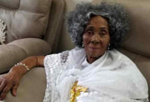Photo of Ex-President Rawlings' mother goes home tomorrow