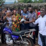 New NPP members presented with motorcycles