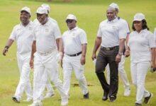 Photo of Vodafone sponsors Otumfuo at 70 Golf tournament