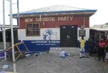 Photo of Irate group vandalises NPP bill boards in Tema
