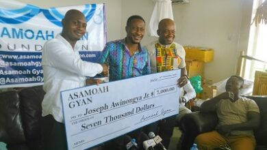 Photo of Gyan Foundation supports US based Ghanaian boxer