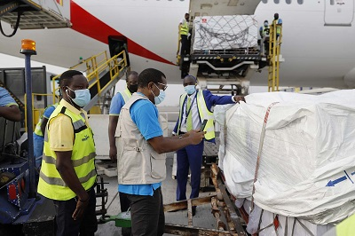 Vaccines Ghana takes delivery of Johnson Johnson Covid 19 vaccines